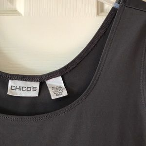Chico's Microfiber Tank Top Gray Size 2 EUC